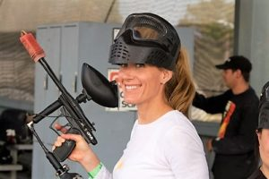 Female Paintball Player at Skirmish Paintball in Jim Thorpe, PA
