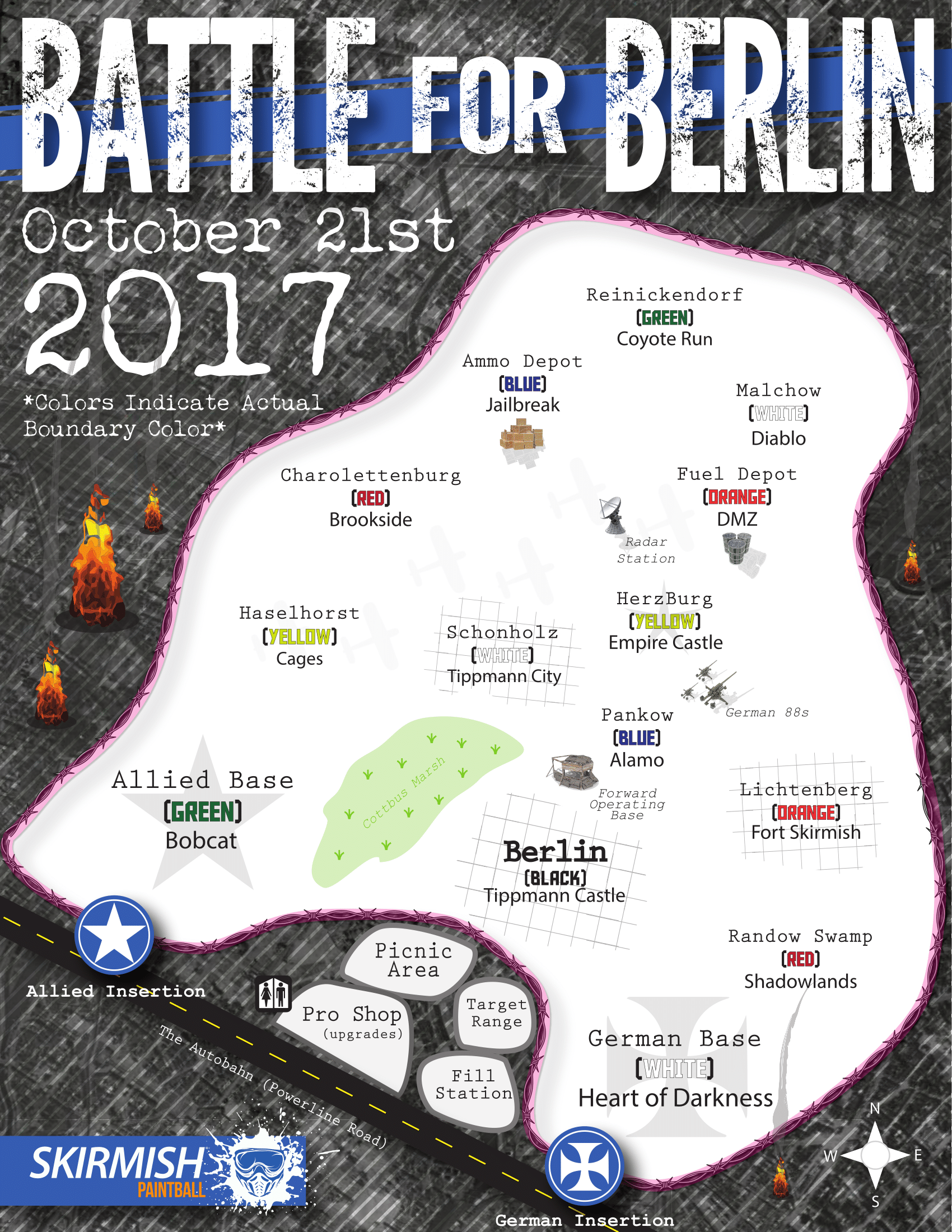 Battle For Berlin - Berlin map 2017