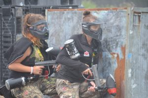 Women playing Skirmish Paintball
