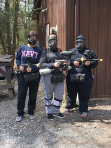 Ladies at Skirmish Paintball