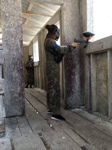 Ladies Playing Paintball at Tippman City